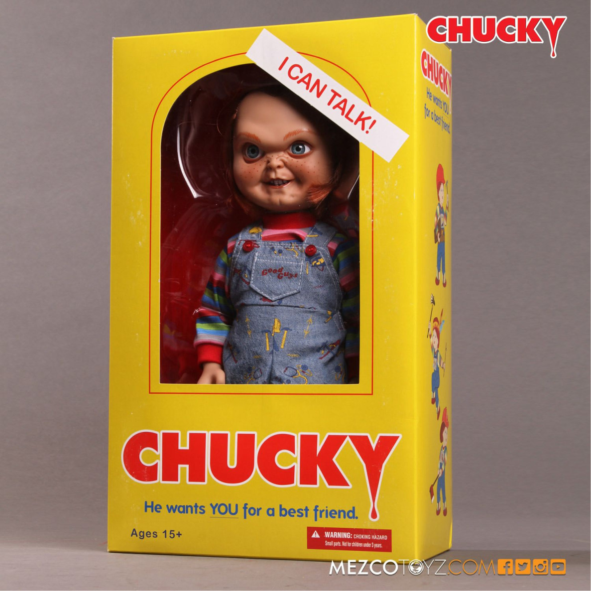 Mezcotoys Child's Play: 15 inch Talking Sneering Chucky Doll