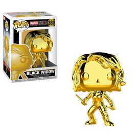 FUNKO Pop! Marvel: Black Widow - Chrome (Golden)