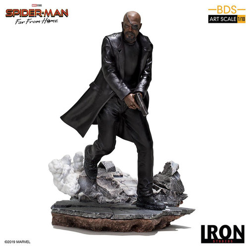Iron Studios Marvel: Spider-Man Far from Home - Nick Fury 1:10 Scale Statue