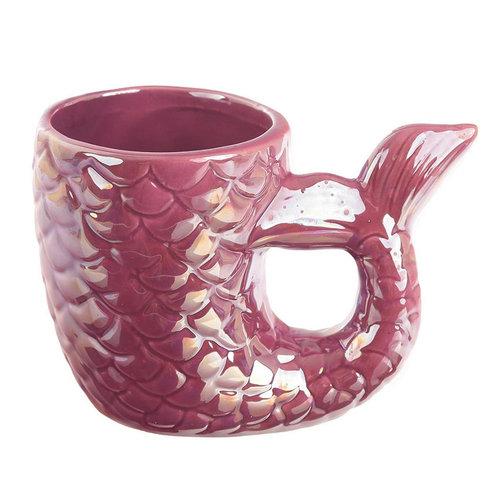 Streamline Mermaid Tail Shaped Mug - Pink