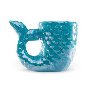 Streamline Mermaid Tail Shaped Mug - Blue
