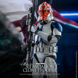 Hot toys Star Wars: The Clone Wars - Deluxe 501st Battalion Clone Trooper 1:6 Scale Figure