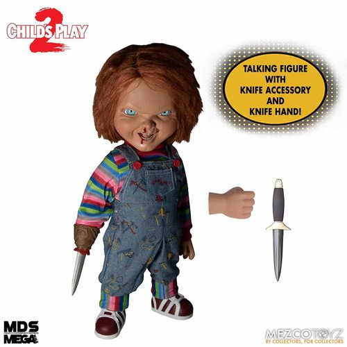 Mezcotoys Child's Play: Mega Scale Talking Menacing Chucky 15 inch Action Figure