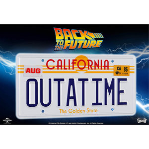 doctor collector Back to the Future - Outatime - License Plate