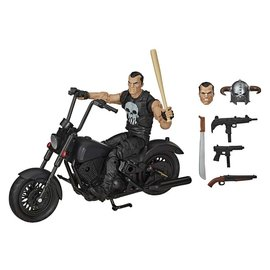 HASBRO Marvel Legends: The Punisher With Motorcycle Action Figure