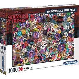 Clementoni Stranger Things Badge Impossible puzzle 1000pzs