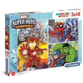 clemont Marvel Superhero Maxi puzzle 3x48pcs