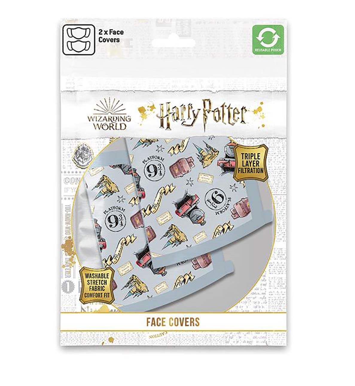 Hole In The Wall Harry Potter Hogwarts Express - Facemask (x2)