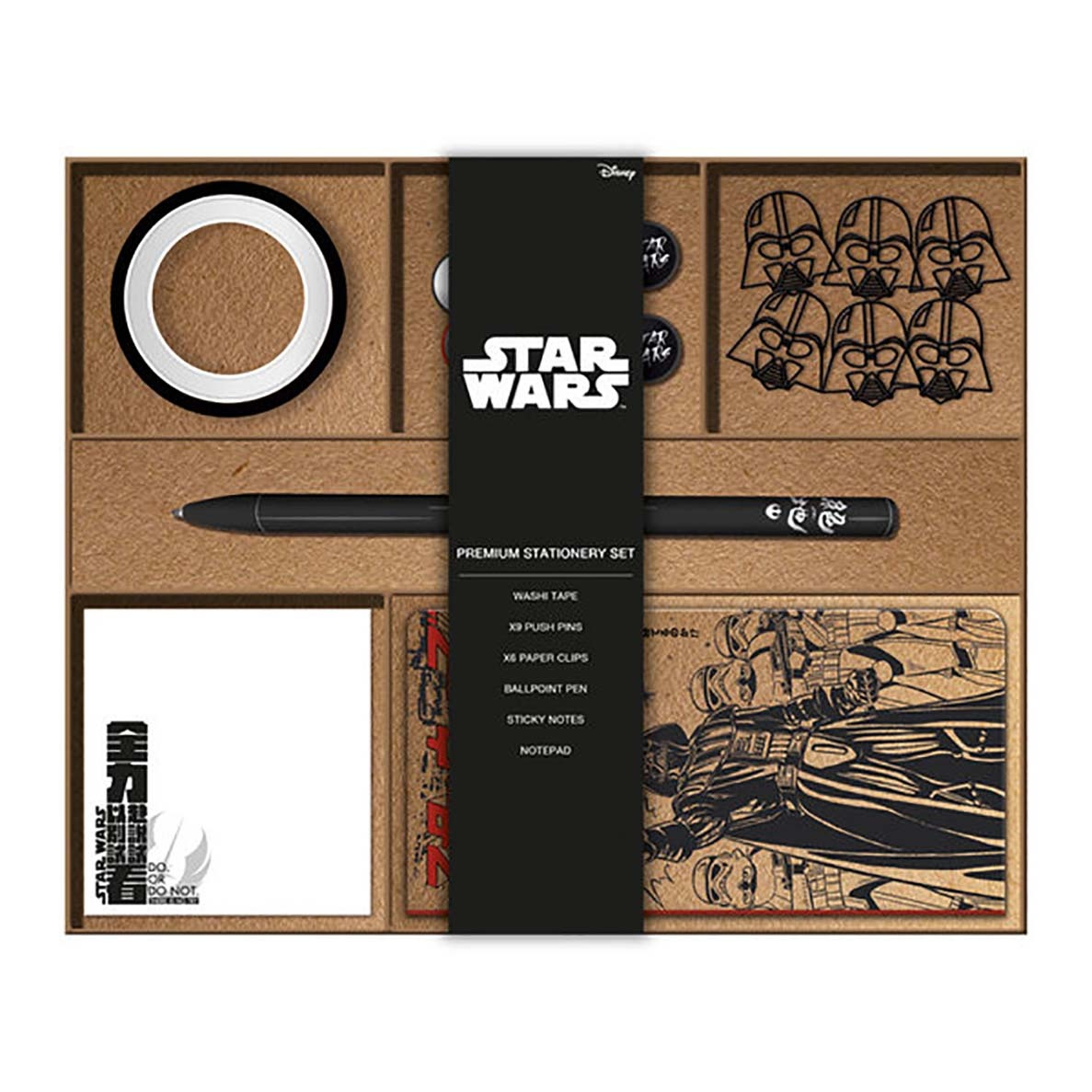 Hole In The Wall Star Wars Japanese Social Stationery Set