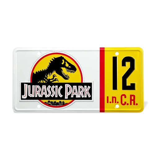 doctor collector Jurassic Park: Dennis Nedry License Plate Replica