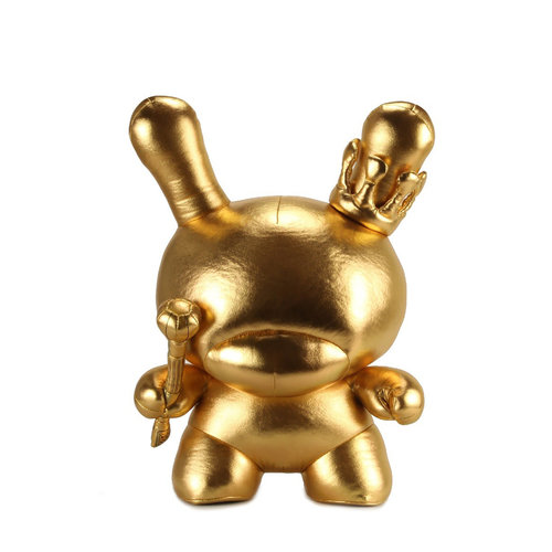 Kidrobot Dunny: Gold King Dunny 20 inch Plush by Tristan Eaton