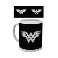 DC Comics Wonder Woman Monotone Logo - Mug