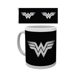 Hole In The Wall DC Comics Wonder Woman Monotone Logo - Mug