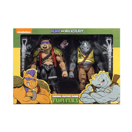 NECA TMNT: Rocksteady and Bebop 7 inch Action Figure 2-Pack