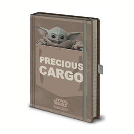 Hole In The Wall Star Wars The Mandalorian The Child Precious Cargo Premium A5 Notebook