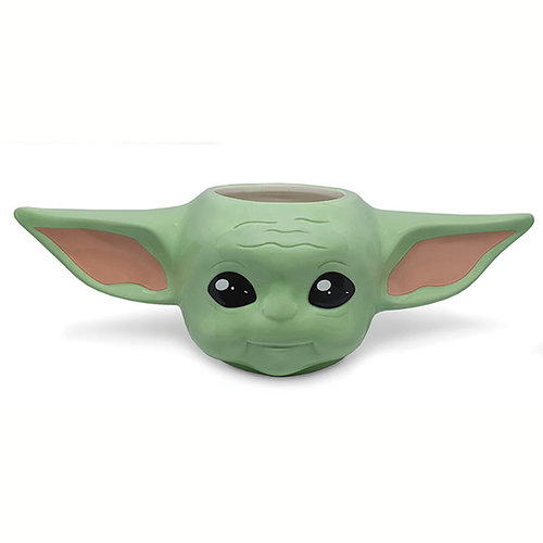 Hole In The Wall Star Wars The Mandalorian Baby Yoda 3D Shaped Mug