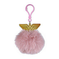 Wonder Woman Logo - Pom Pom Keyring