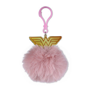 Hole In The Wall Wonder Woman Logo - Pom Pom Keyring