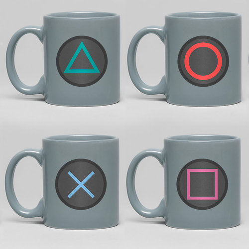 Hole In The Wall Playstation Buttons Mini Mug Set