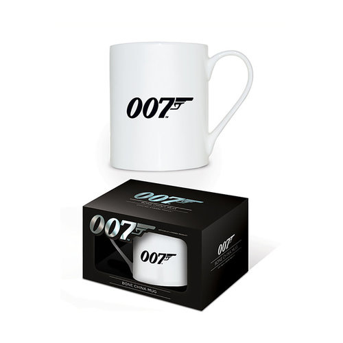 Hole In The Wall James Bond 007 Logo Bone China Mug
