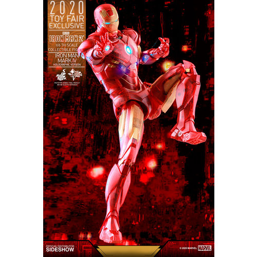 Hot toys Marvel: Iron Man 2 - Exclusive Iron Man Mark IV Holographic Version 1:6 Scale Figure