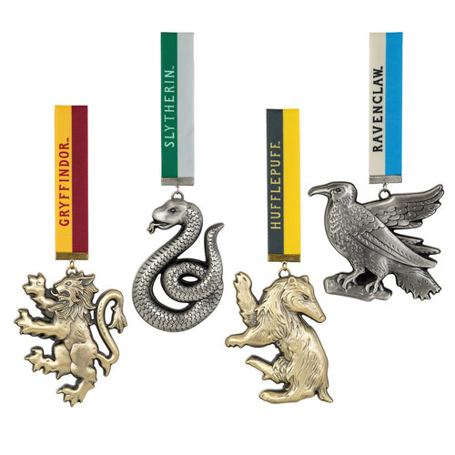 The Noble Collection Harry Potter: Set of 4 House Mascot Ornaments