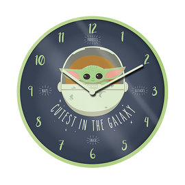 "Hole In The Wall Star Wars The Mandalorian Cutest In The Galaxy 10"" Wall Clock"