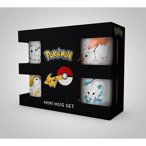 Hole In The Wall Pokemon Eevee Evolutions Mini Mug Set