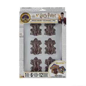 fame bros Harry Potter: Chocolate Frog Mold with 6 DIY Boxes and 12 Wizard Cards