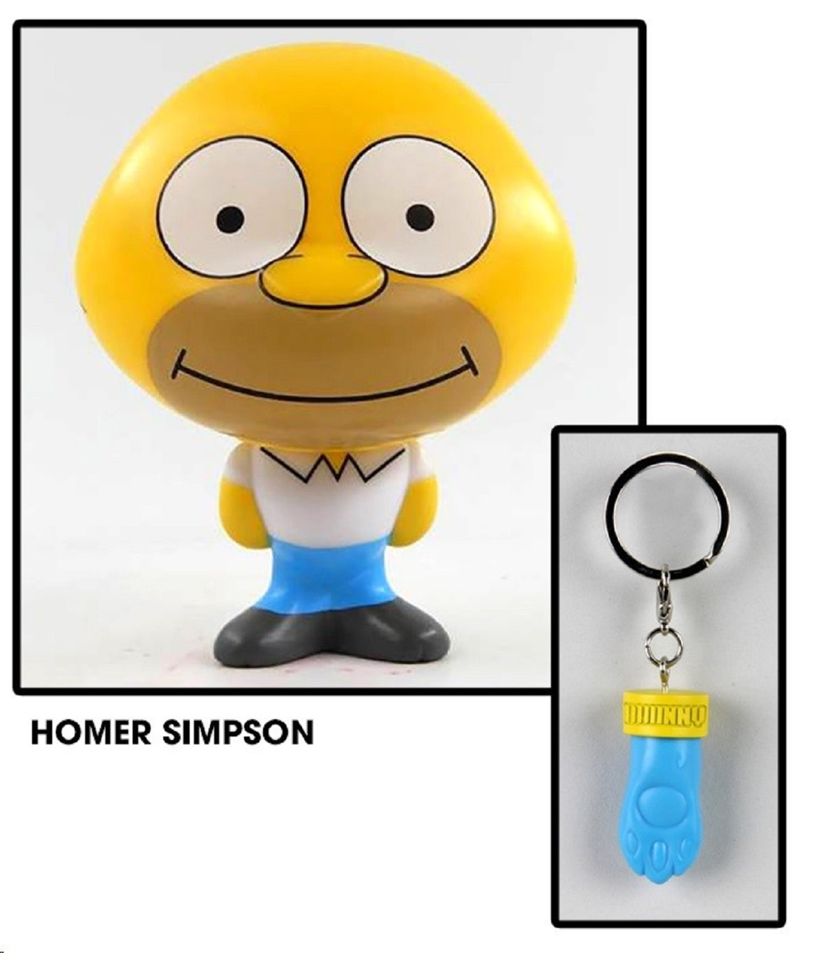 Kidrobot The Simpsons: Homer Simpson 4 inch Bhunny