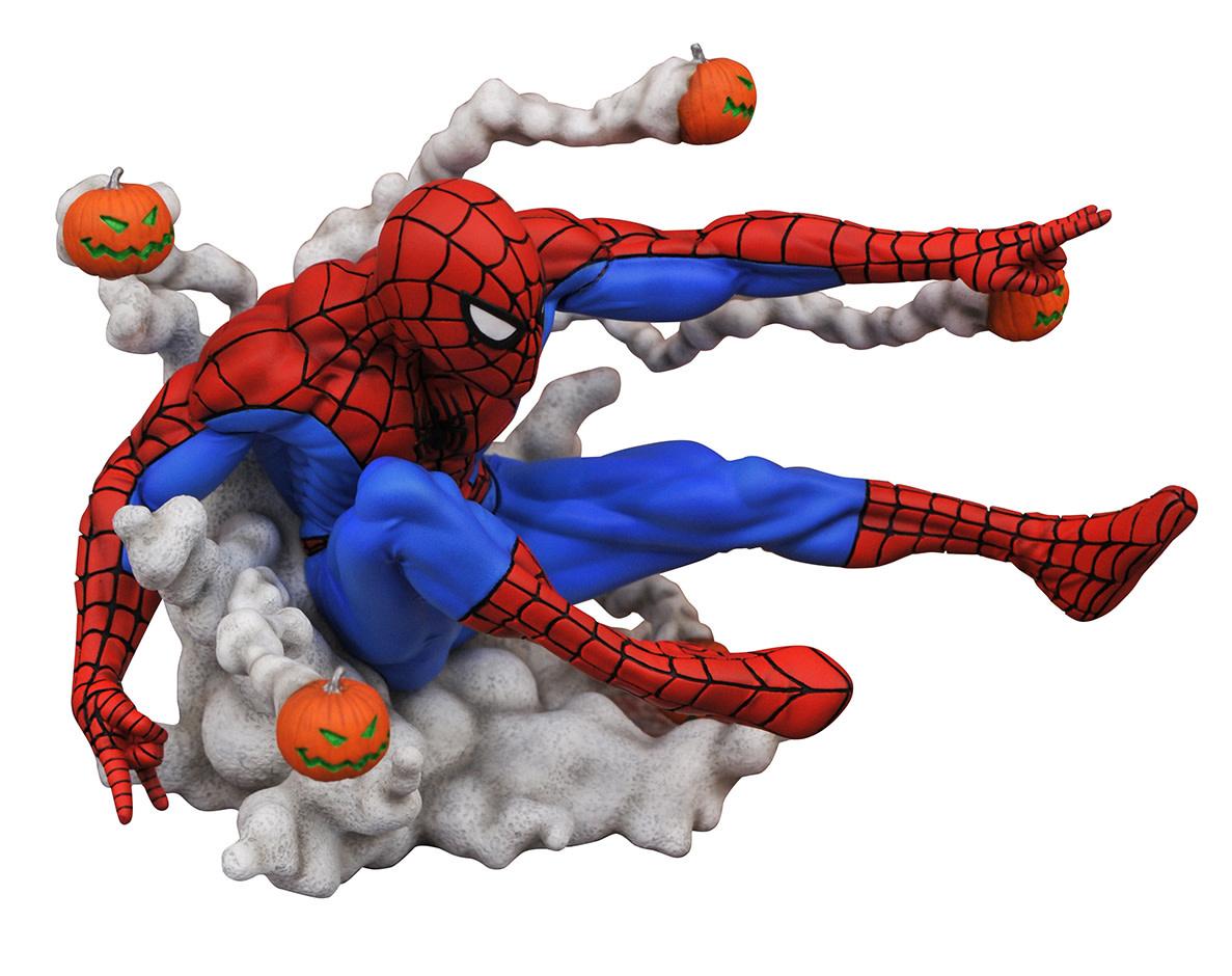 DIAMOND SELECT TOYS Marvel Comic Gallery: Spider-Man Pumpkin Bombs PVC Diorama