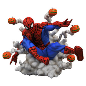 DIAMOND SELECT TOYS Marvel Comic Gallery: Spider-Man Pumpkin Bombs PVC Diorama