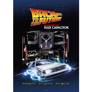 SD Toys Back To The Future: Powered By Flux Capacitor 1000 Piece Puzzle