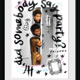 Hole In The Wall Friends: Party 30 x 40 cm Collector Print