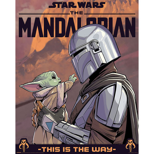 Hole In The Wall Star Wars The Mandalorian Hello Little One Mini Poster