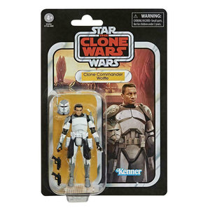 HASBRO Star Wars The Vintage Collection Clone Commander Wolffe Figure