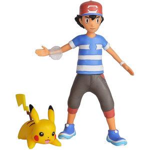 Pokemon Battle Feature Figure Ash en Pikachu