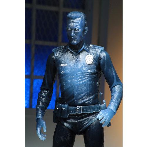 "NECA Neca Terminator 2 Kenner Tribute Warm White T-1000 7 ""scale Action Figure"