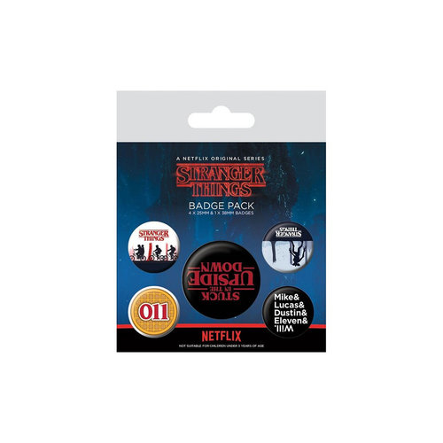 Pyramid International Stranger Things - Upside Down Badge Pack