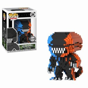 FUNKO Pop! Horror: 8-Bit Alien 2-Tone Orange Blue LE