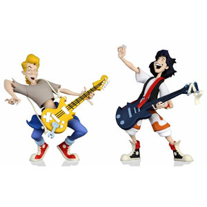 NECA Bill and Ted's Exc. Adventure: Toony Classics Bill and Ted 6 inch Action Figure 2-Pack