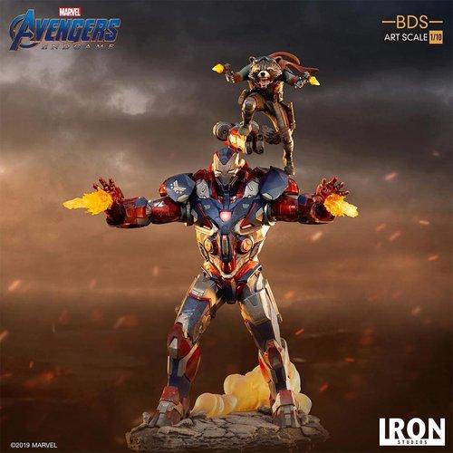 Iron Studios Marvel: Avengers Endgame - Iron Patriot and Rocket 1:10 Scale Statue