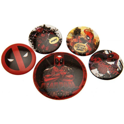 Pyramid International Deadpool Set Of 5 Pin Badges