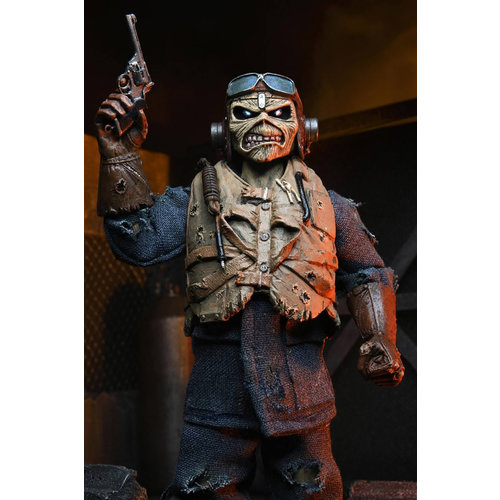 NECA Iron Maiden: Aces High Eddie 8 inch Clothed Action Figure