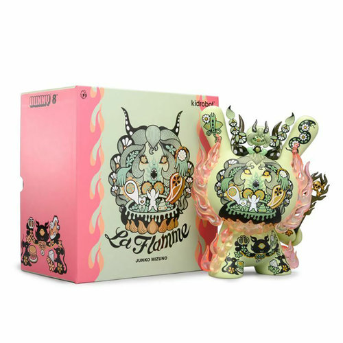 Kidrobot Dunny: 8 inch La Flamme Dunny by Junko Mizuno - Green