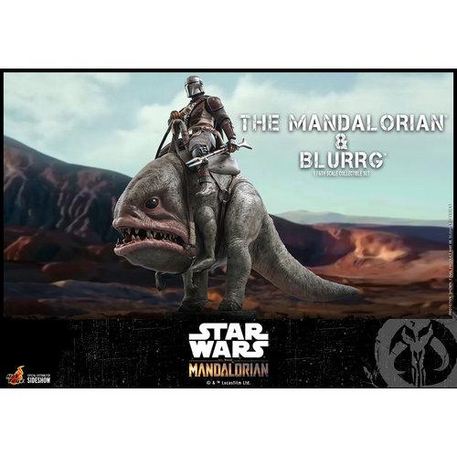 Hot toys Star Wars: The Mandalorian - Mandalorian and Blurrg 1:6 Scale Figure Set