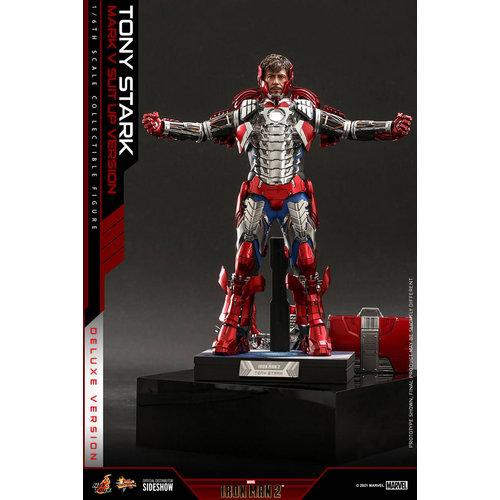 Hot toys Marvel: Iron Man 2 - Tony Stark Mark V Up Version Deluxe 1:6 Scale Deluxe  Figure