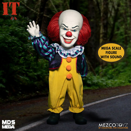 Mezcotoys IT 1990: Mega Scale Talking Pennywise 15 inch Action Figure