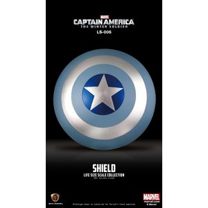 Beast Kingdom Marvel: Captain America Winter Soldier - Vibranium Shield Winter Soldier Edition Life Sized Replica