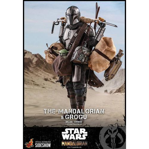 Hot toys Star Wars: The Mandalorian - Deluxe The Mandalorian and Grogu 1:6 Scale Figure Set